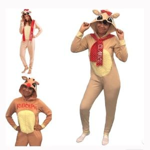 Other - Rudolph the red nose reindeer costume onesie pjs